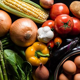 Seasonal vegetables grown