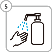 Use of hand sanitizer