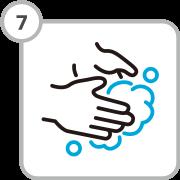 Regular hand washing